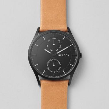 スカーゲン Holst Multifunction Leather Watch SKW6265