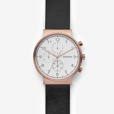 スカーゲン Ancher Leather Chronograph SKW6371