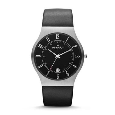 スカーゲン Grenen Leather Watch 233XXLSLB