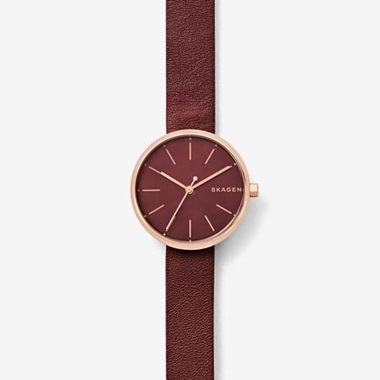 スカーゲン Signatur Leather Watch SKW2646