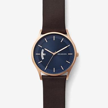 スカーゲン-Holst Leather Multifunction Watch SKW6395-画像1