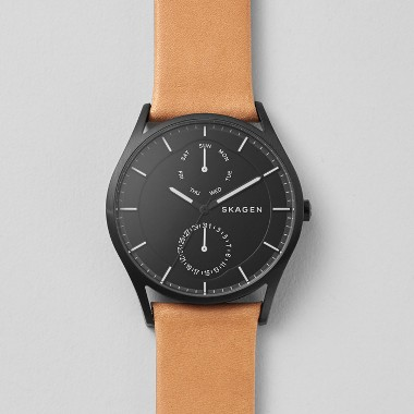 スカーゲン Holst Multifunction Leather Watch SKW6265