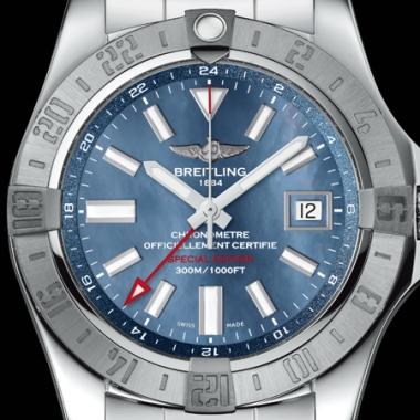 ブライトリング-アベンジャーII GMT ブルーマザーオブパール – A3239011/A809 画像1