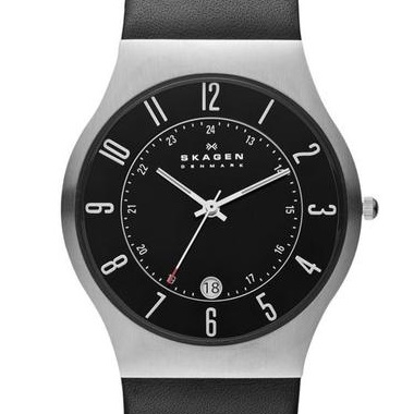 スカーゲン-Grenen Leather Watch 233XXLSLB 画像1