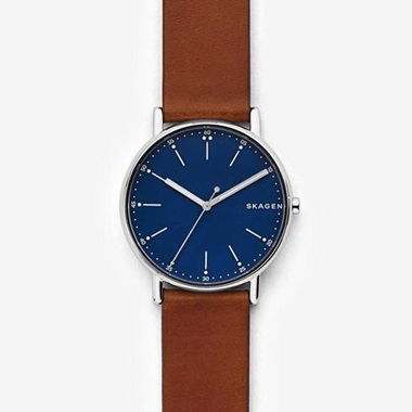 スカーゲン Signatur Leather Watch SKW6355