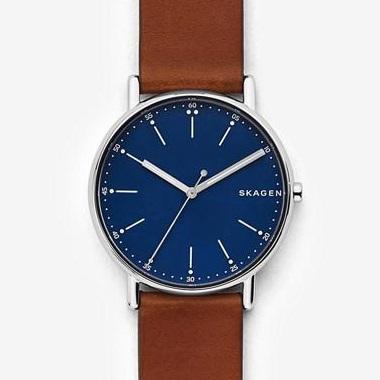 スカーゲン-Signatur Leather Watch SKW6355 画像1