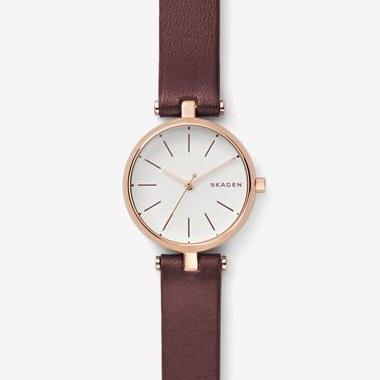 スカーゲン-Signatur Leather T-Bar Watch SKW2641 画像1