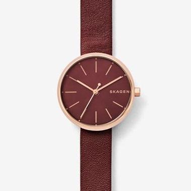 スカーゲン-Signatur Leather Watch SKW2646 画像1